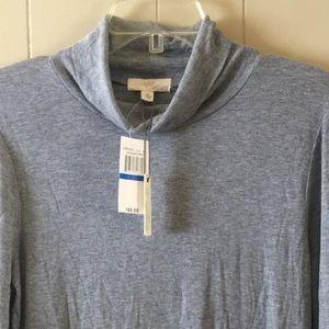 CUPIO Grey XL Turtleneck tunic top, new